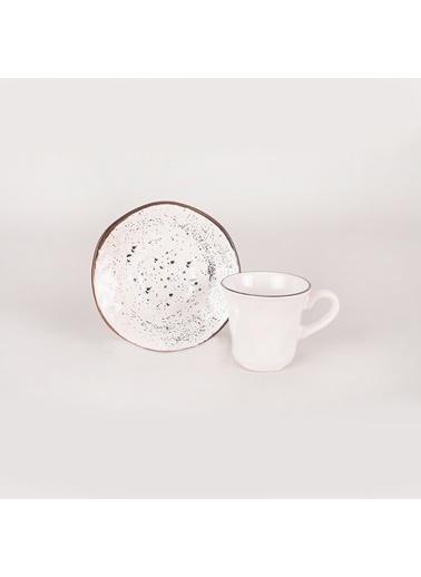 Keramika Keramika Splash 12 Parça 6 Kişilik 18993 Organik Kahve Takımı Beyaz